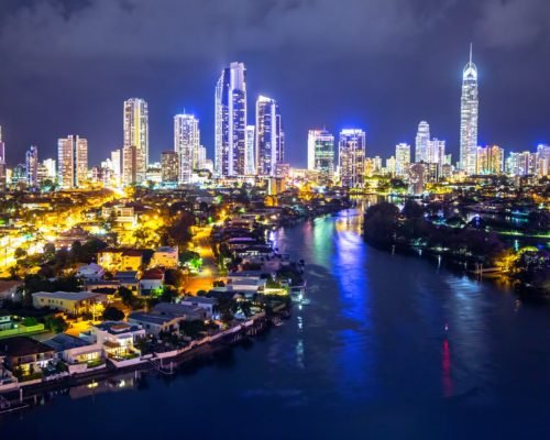 aerial-view-over-nerang-river-to-surfers-paradise-and-q1-at-night